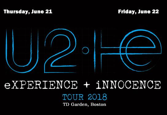 U2 incluiu um segundo show em Boston no TD Garden