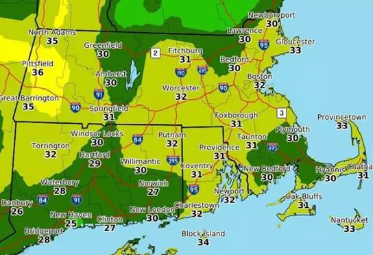 Frente Fria se aproxima e temperaturas caem em Massachusetts