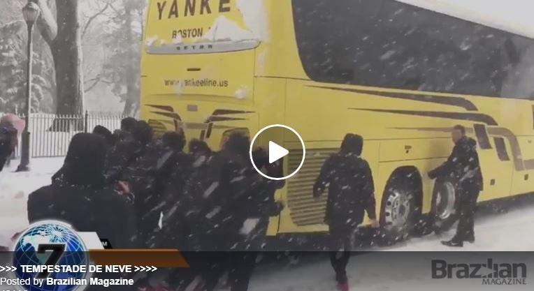 VÍDEO – ÔNIBUS PRESO NA NEVASCA