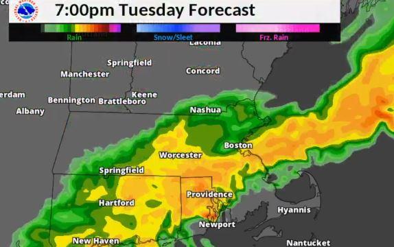Tempestade trará chuvas e ventos fortes, granizo e tornado a Massachusetts
