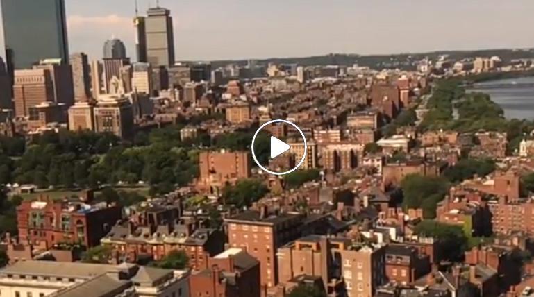 Vista sensacional da cidade de Boston