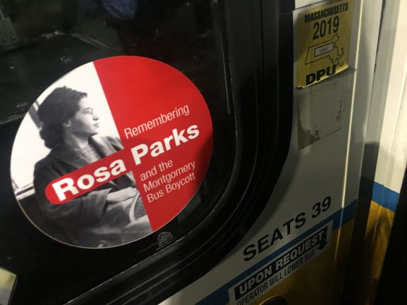 MBTA bus decals pay tribute to Rosa Parks