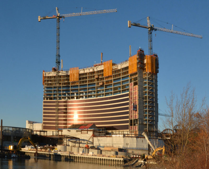(Everett, Ma 012618) The Wynn Boston Harbor Casino project. January 26, 20018 Staff photo by Chris Christo