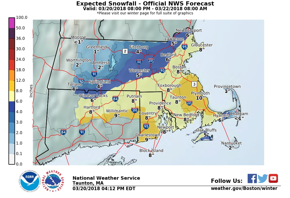 Primavera chega trazendo outra nevasca a Boston